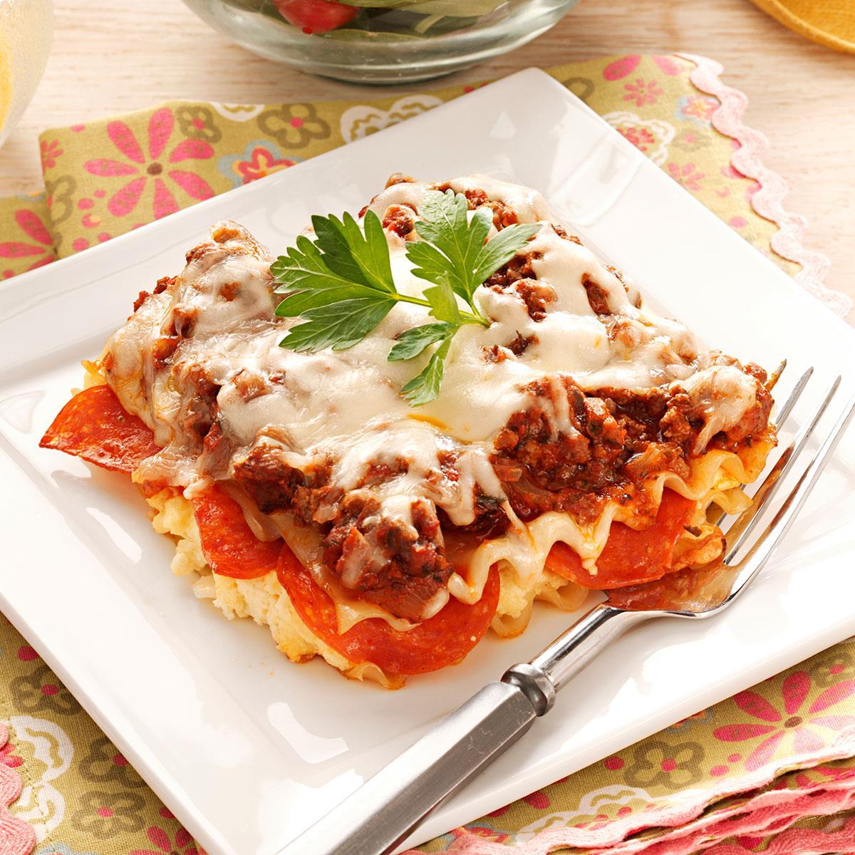 Pepperoni lasagna recipe taste of home forumfinder Images