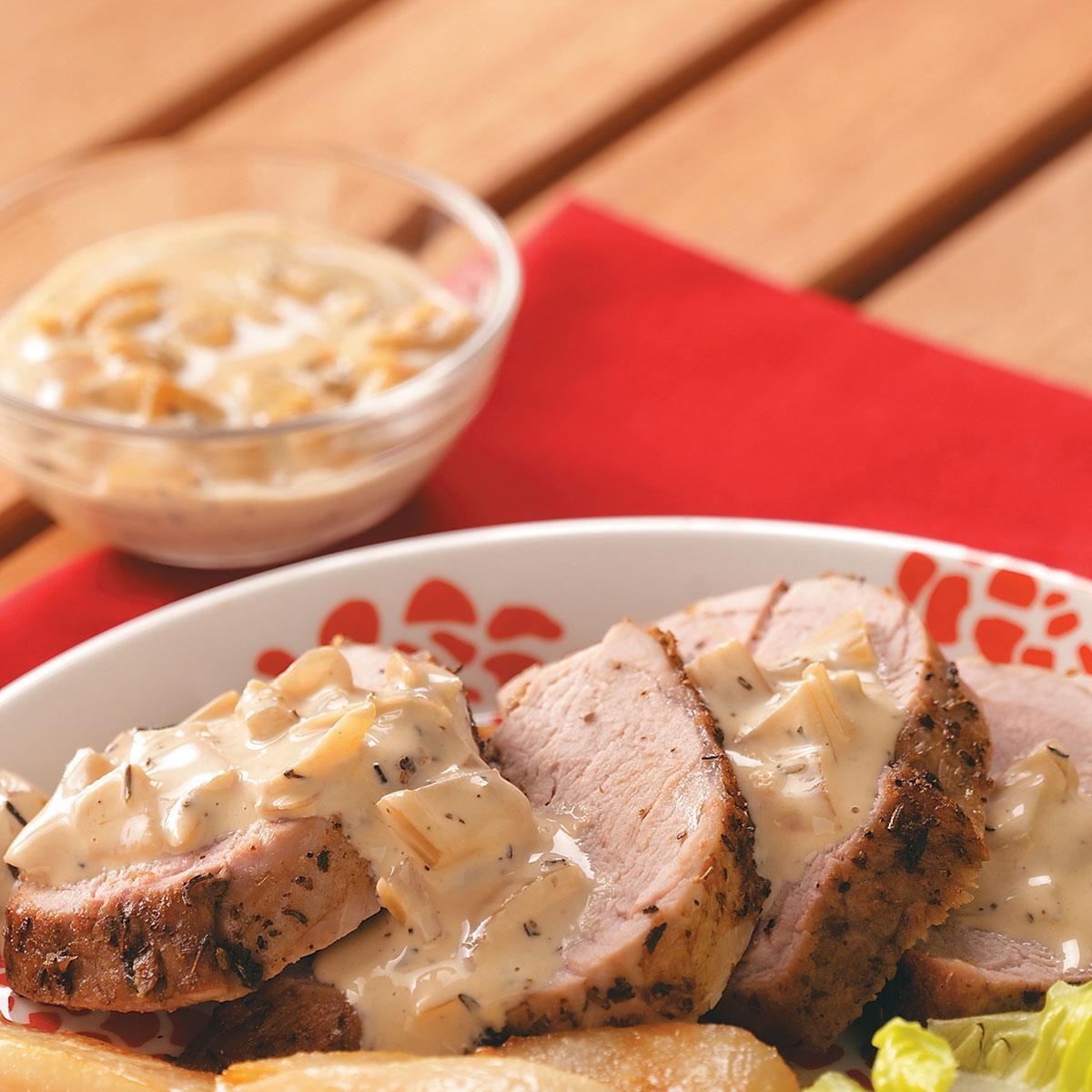 Pork Tenderloin With Pear Cream Sauce Recipe