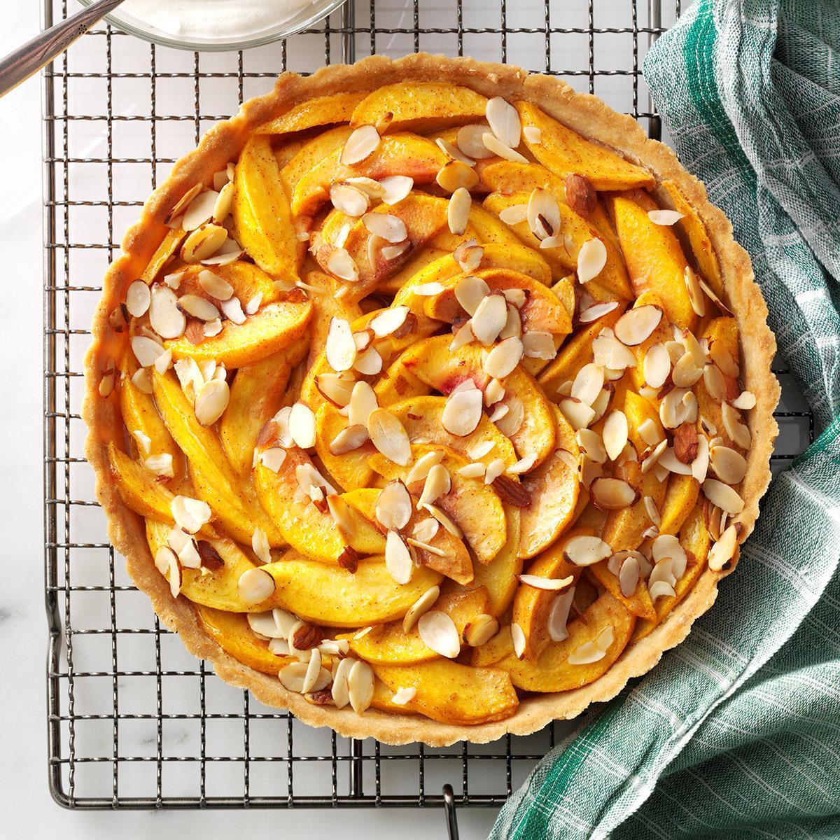 Pretty Peach Tart Recipe