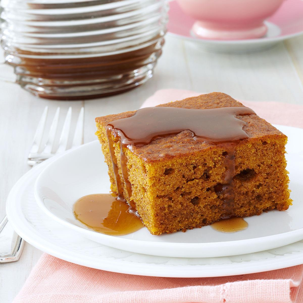 Ginger Caramel Spice Cake Recipe