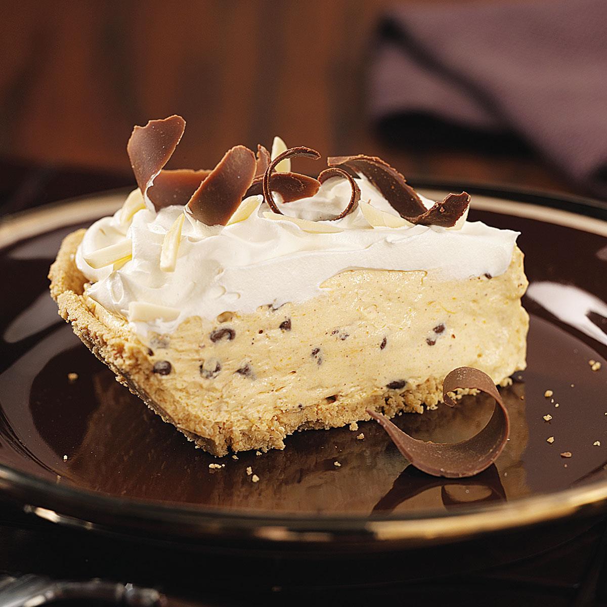 Pumpkin Chip Cream Pie Recipe