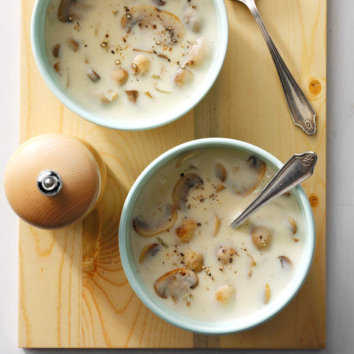 Quick cream of mushroom soup recipe taste of home forumfinder Images