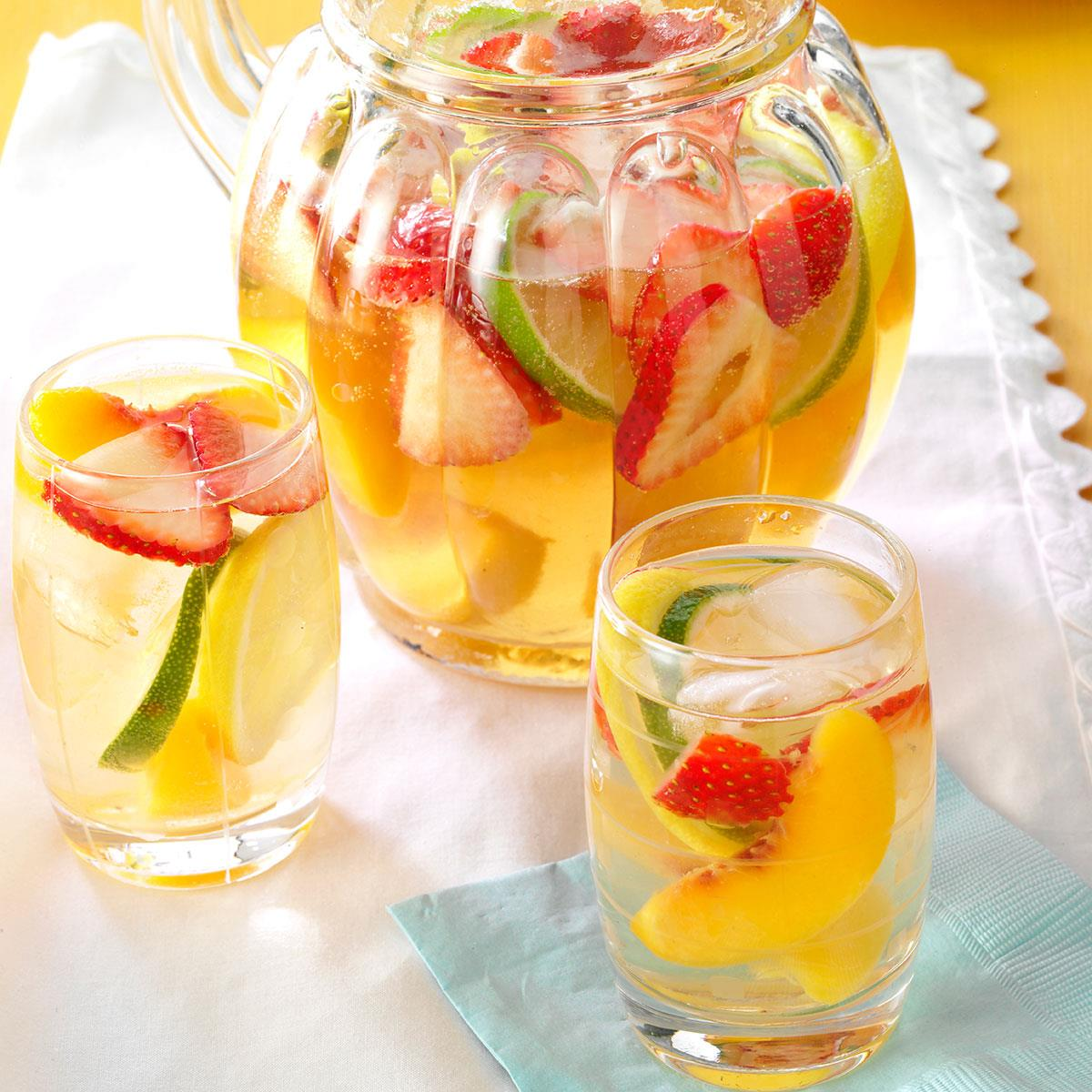 Quick white sangria recipe taste of home thecheapjerseys Image collections