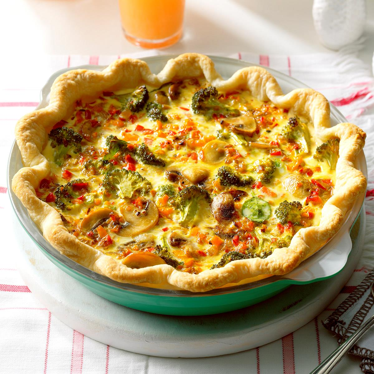 Rainbow quiche recipe taste of home forumfinder Image collections