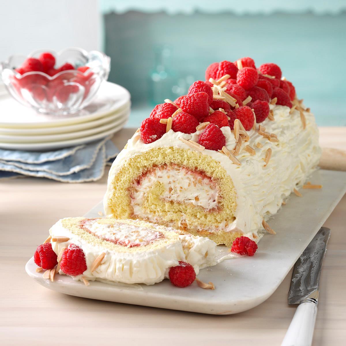Apple And Raspberry Sponge Cake