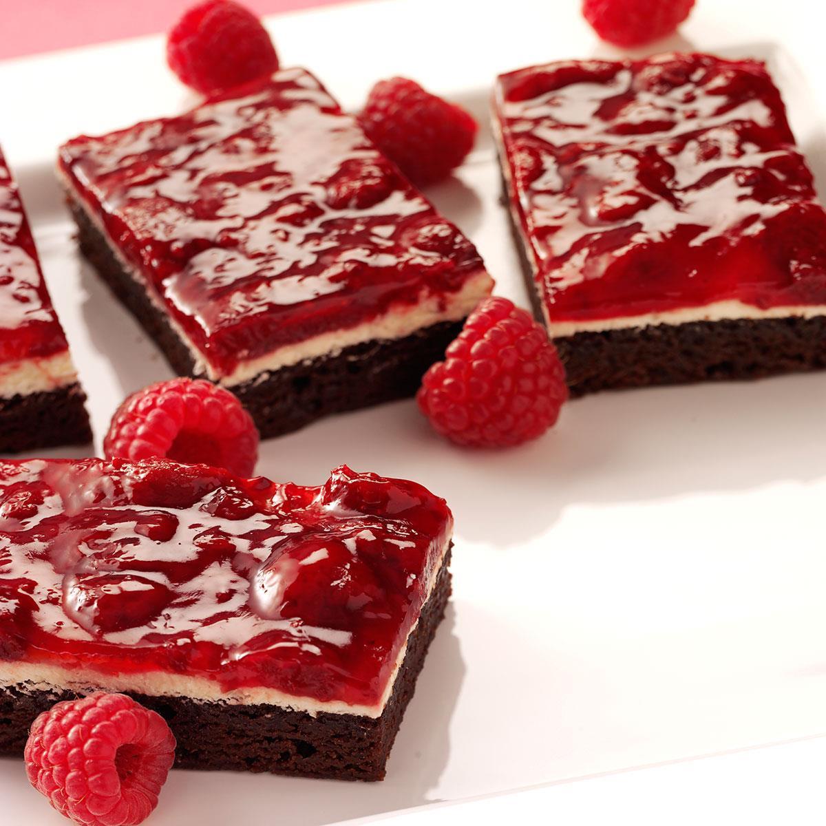 Raspberry Brownie Dessert Recipe Taste Of Home