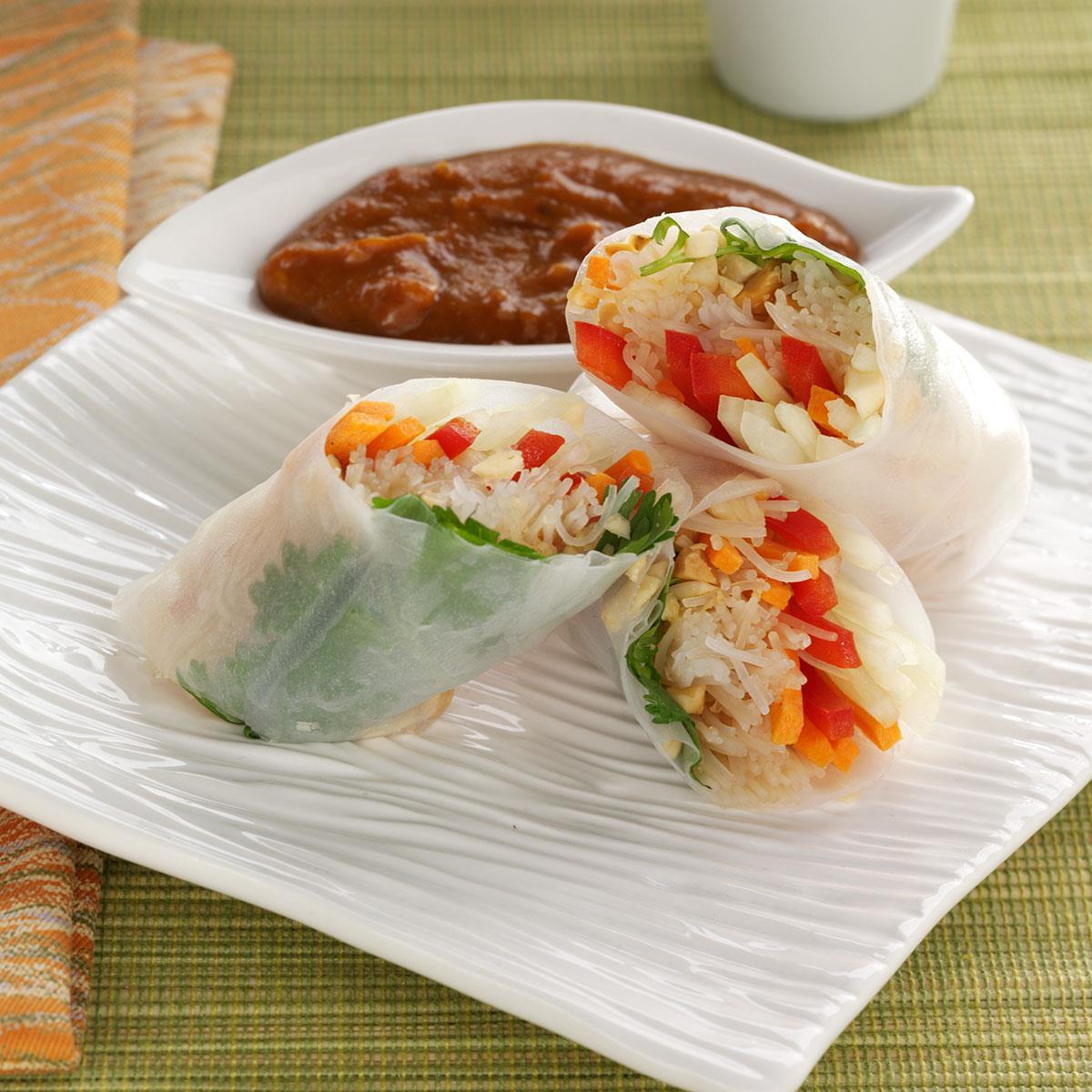 Rice Paper Rolls Recipe | Taste of Home