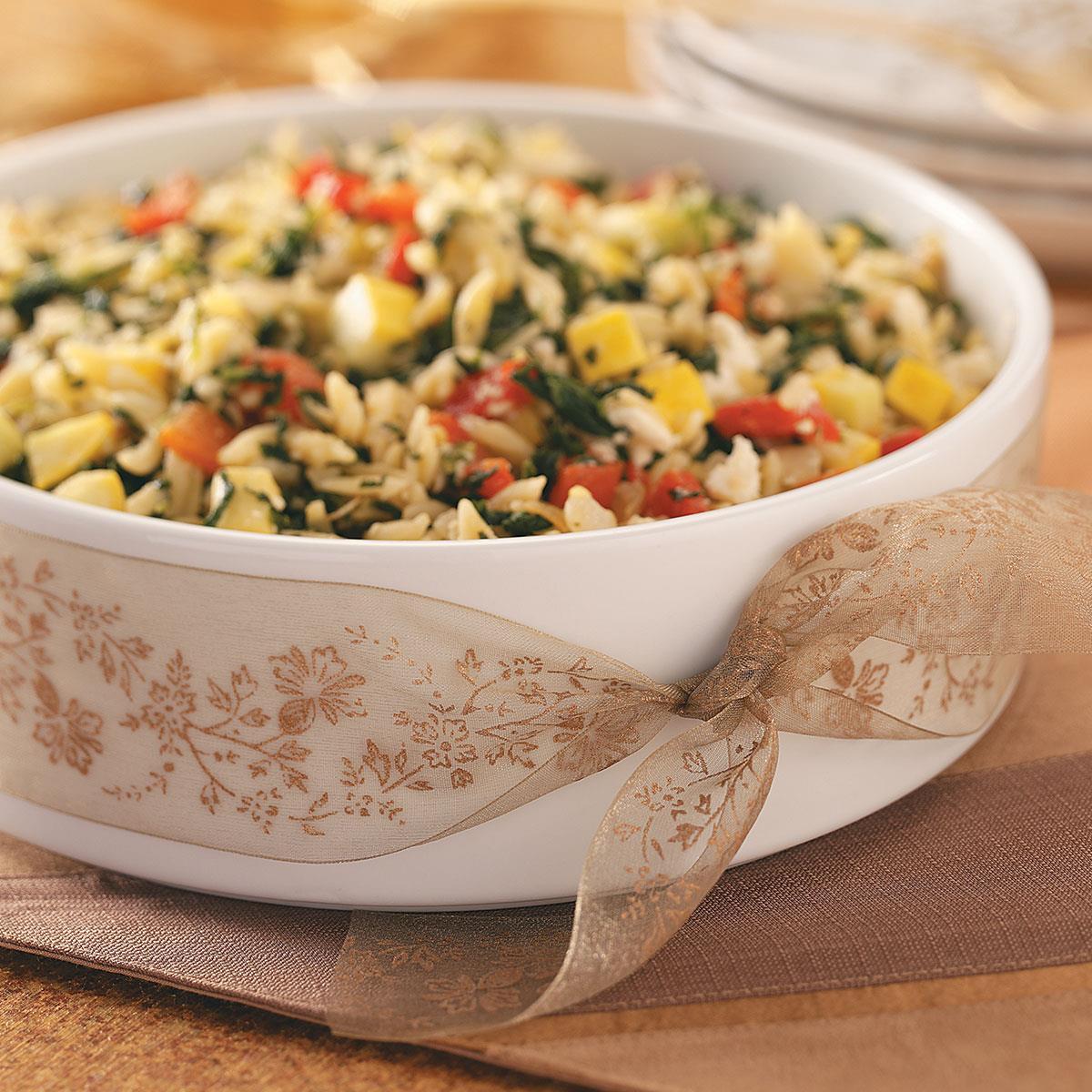 Mediterranean Style Recipes: Savory Mediterranean Orzo Recipe