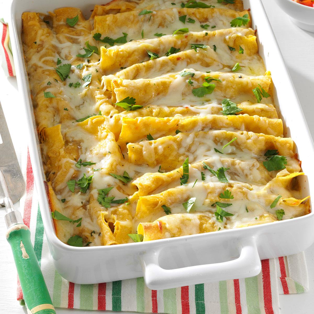 Garlic Beef Enchiladas Recipe: Shrimp Enchiladas With Green Sauce Recipe