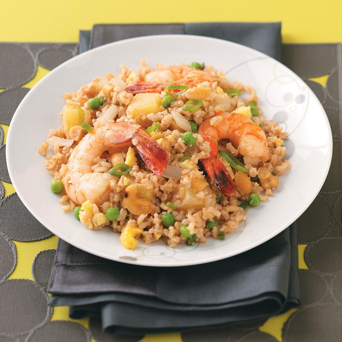 Shrimp and pineapple fried rice recipe taste of home ccuart Gallery