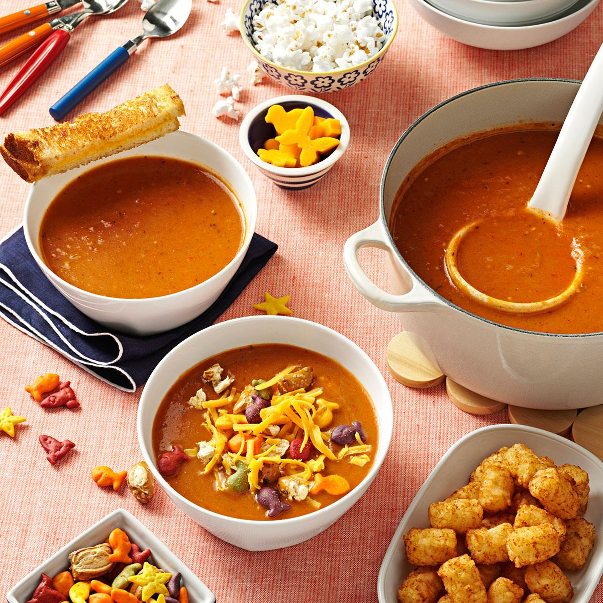 Simple tomato soup recipe taste of home for Easy tasty soup recipes