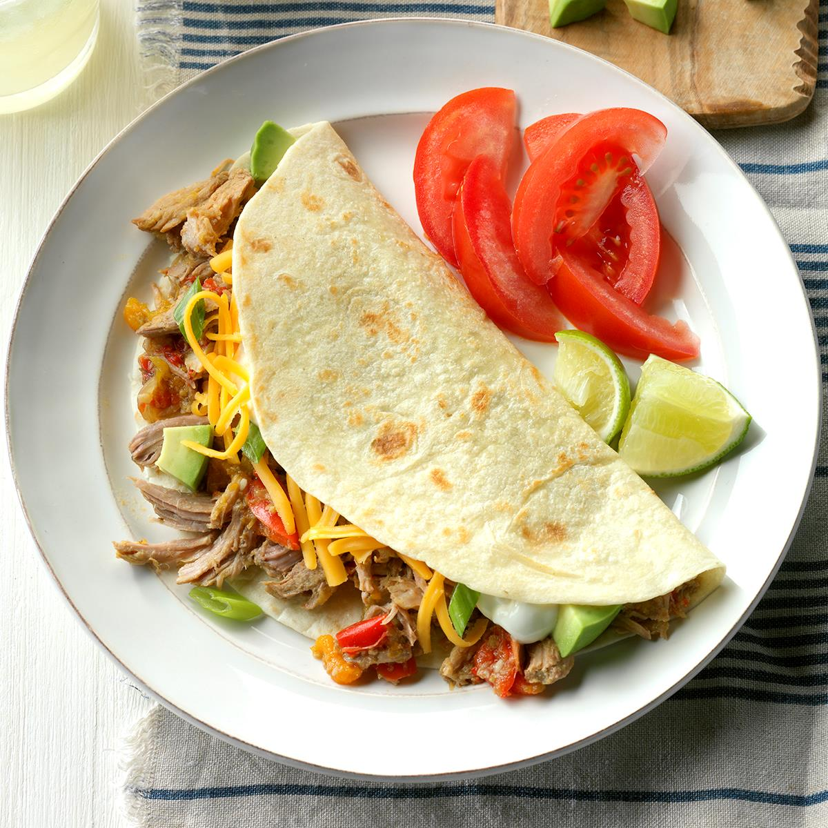 slow cooker recipes pork cooked pork tacos recipe taste of home 30676