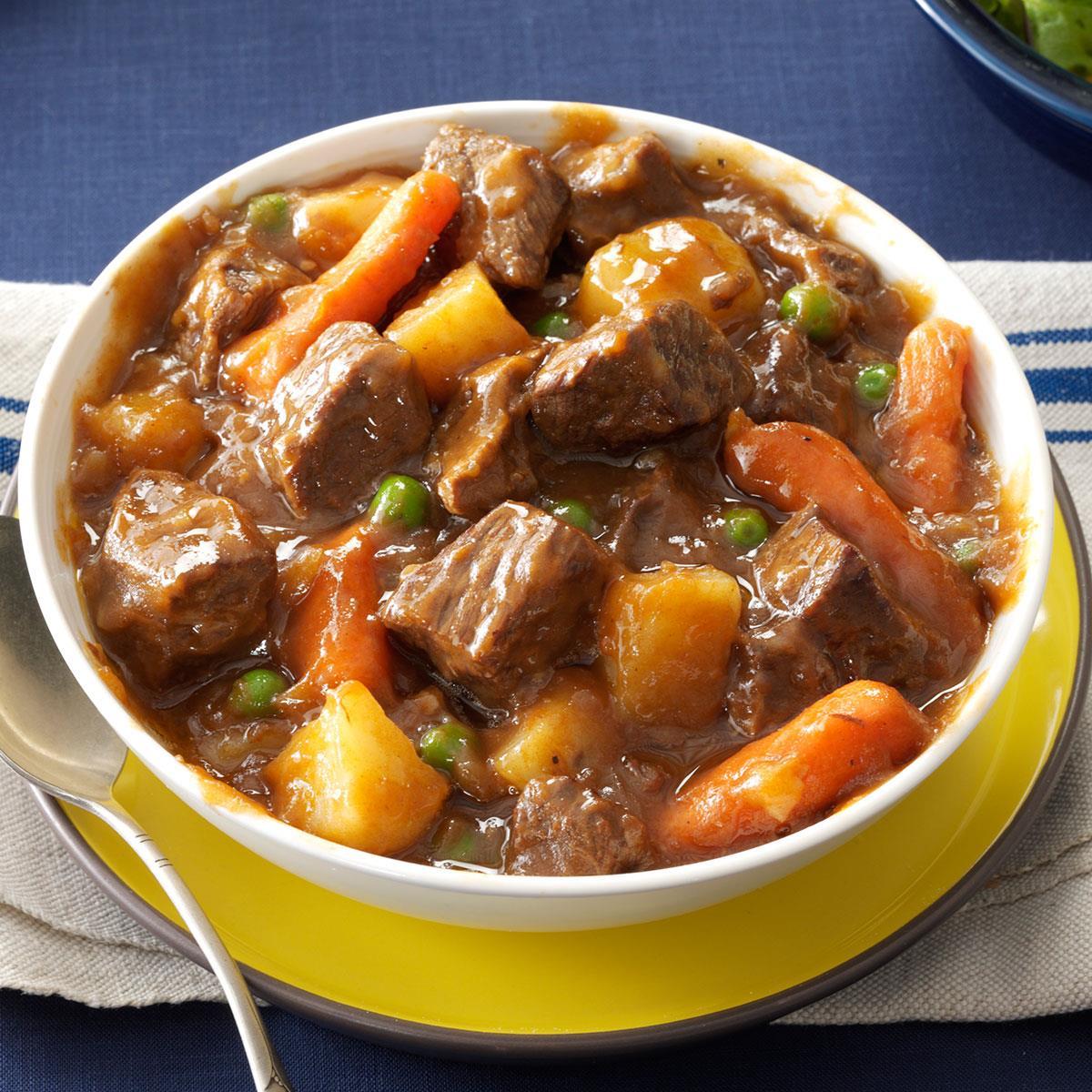 Slow Cooker Beef Vegetable Stew Recipe