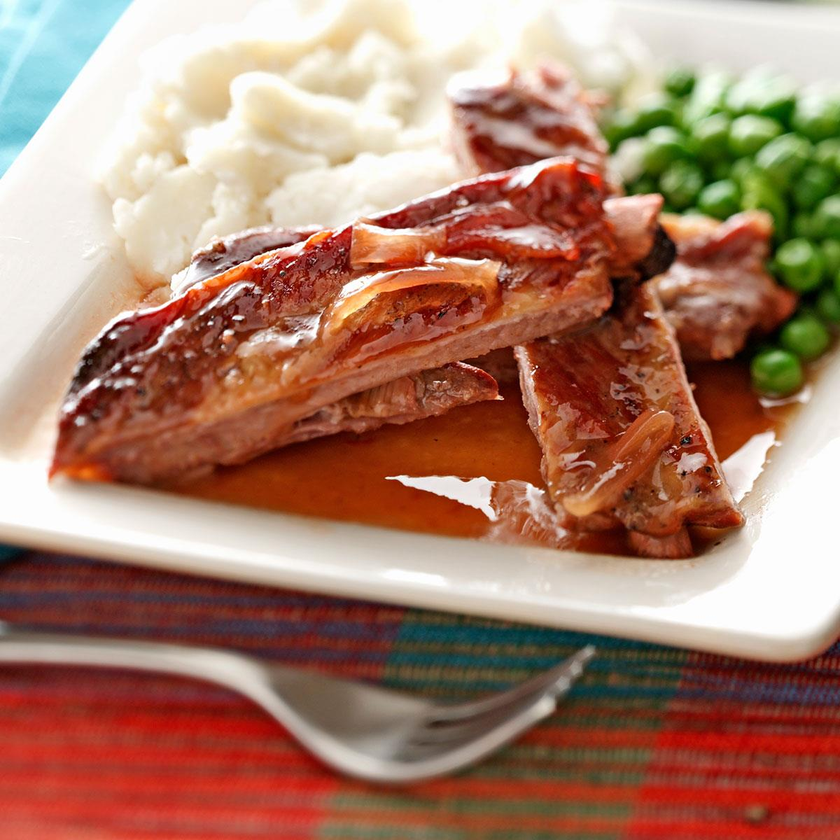 slow cooker ribs recipe cooker ribs recipe taste of home 11953
