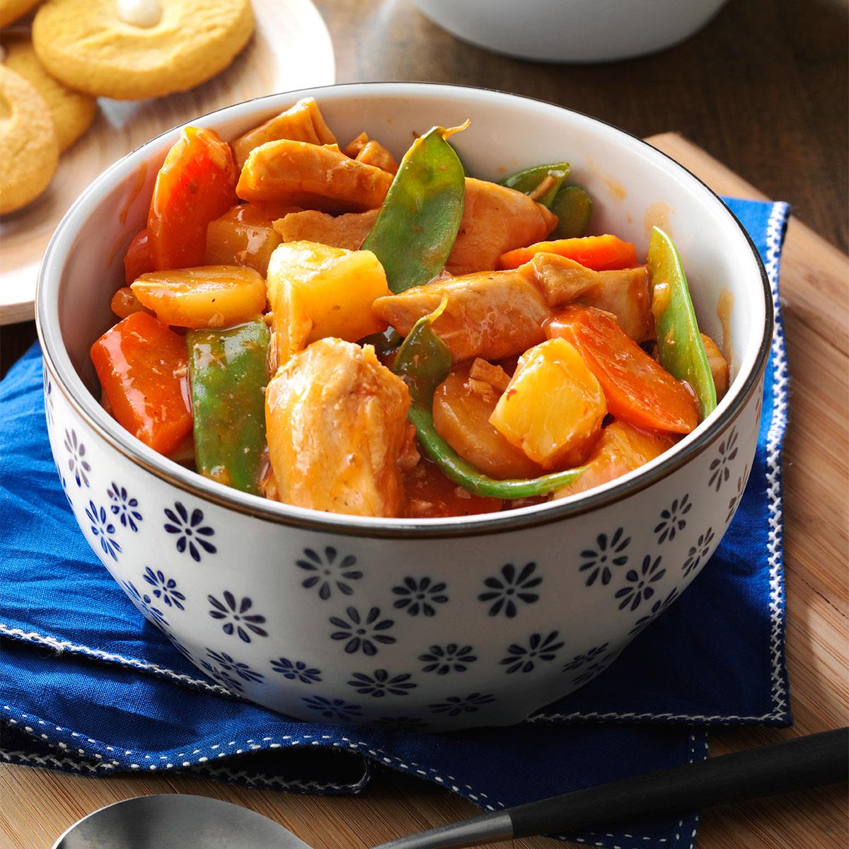 slow cooker sweet and sour chicken recipe taste of home