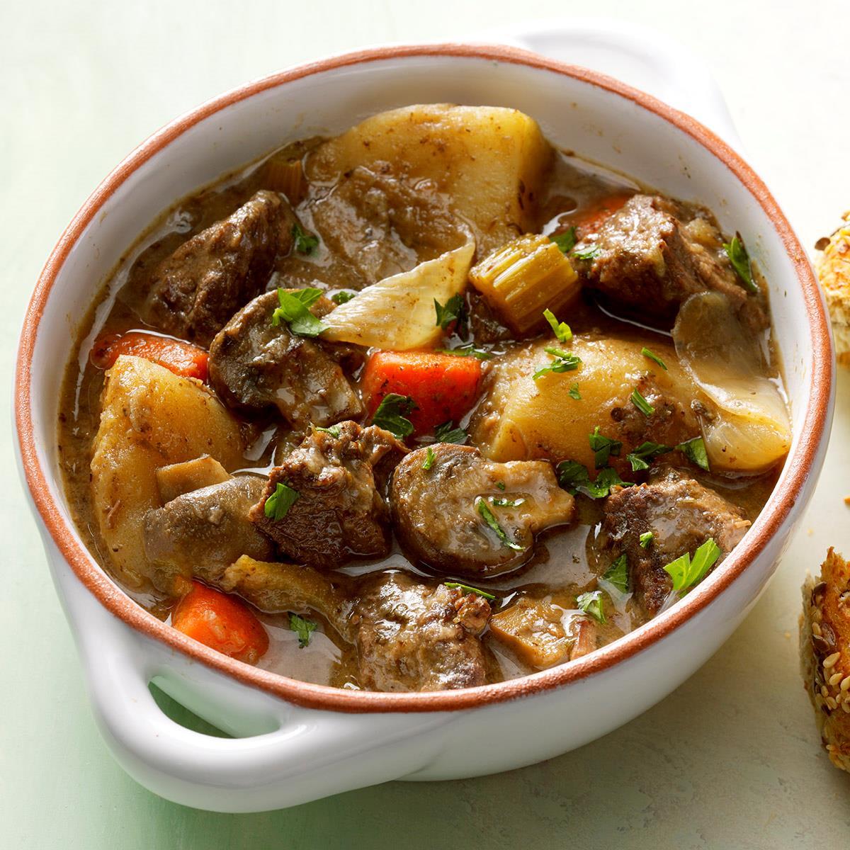 Slow-Simmered Burgundy Beef Stew Recipe
