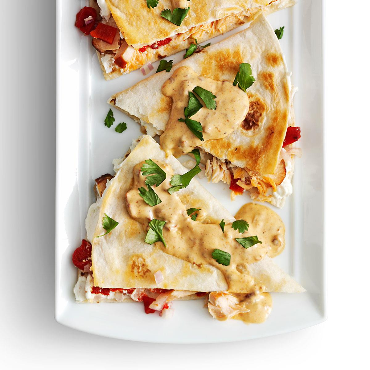 Smoked Salmon Quesadillas with Creamy Chipotle Sauce ...