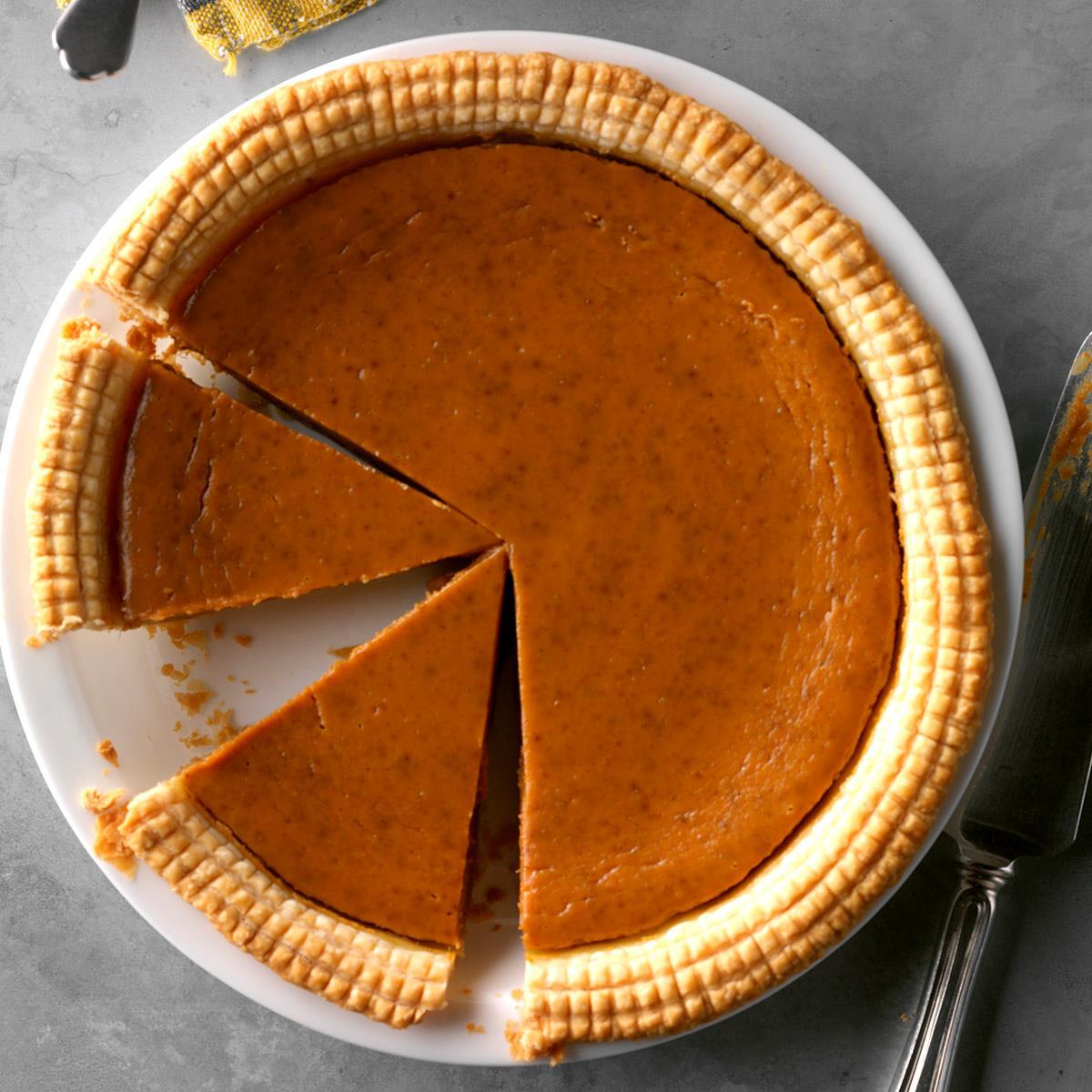 Thanksgiving Desserts Pecan Pie Pumpkin Pie More: Spiced Eggnog Pumpkin Pie Recipe