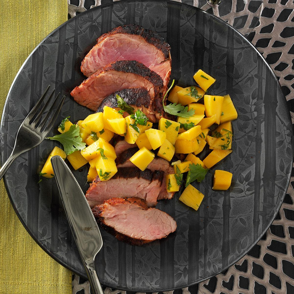 Spicy Pork Tenderloin With Mango Salsa Recipe
