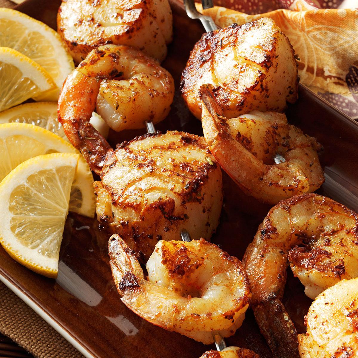 Spicy Shrimp 'n' Scallop Skewers Recipe