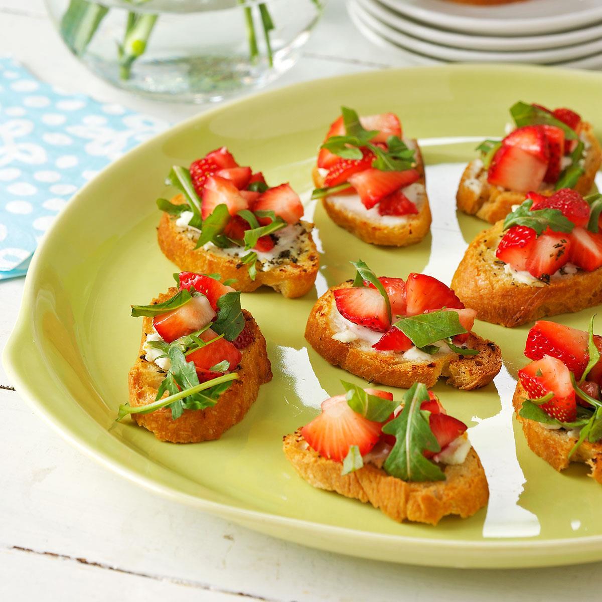 Strawberry Brunch Bruschetta Recipe