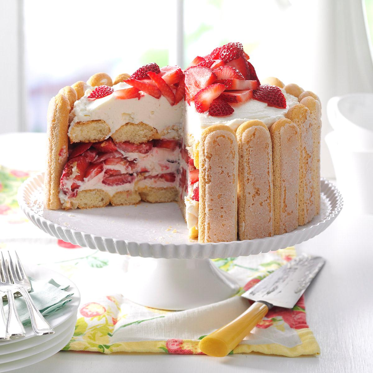 Strawberry Ladyfinger Icebox Cake Recipe Taste Of Home