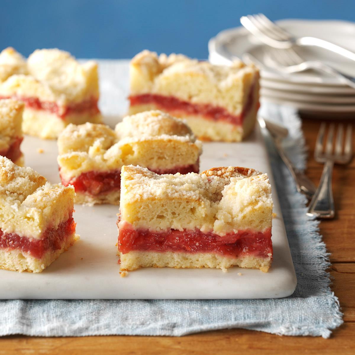 Rhubarb Coffee Cake Recipe Taste Of Home