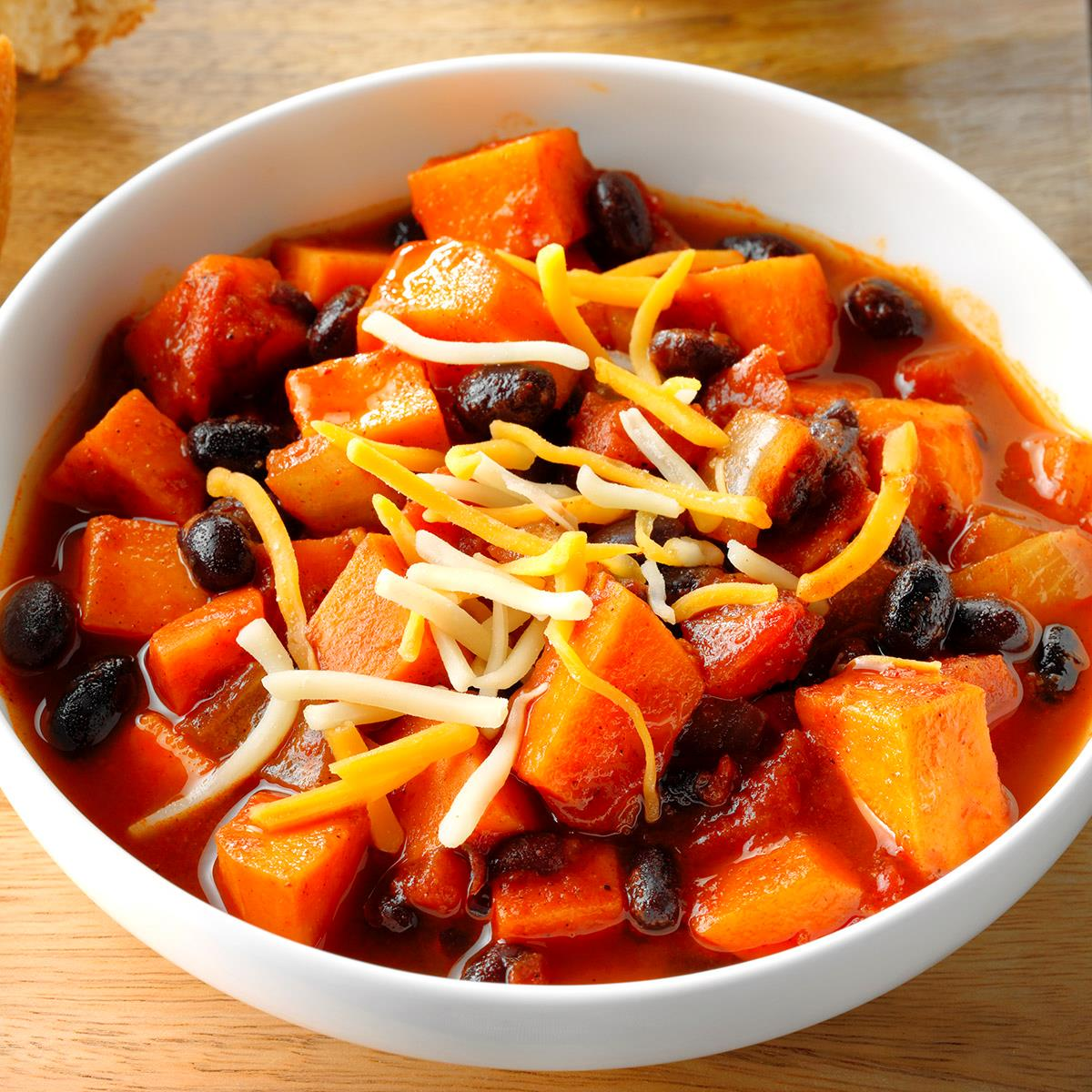 sweet potato chili sweet potato amp black bean chili recipe taste of home 30317
