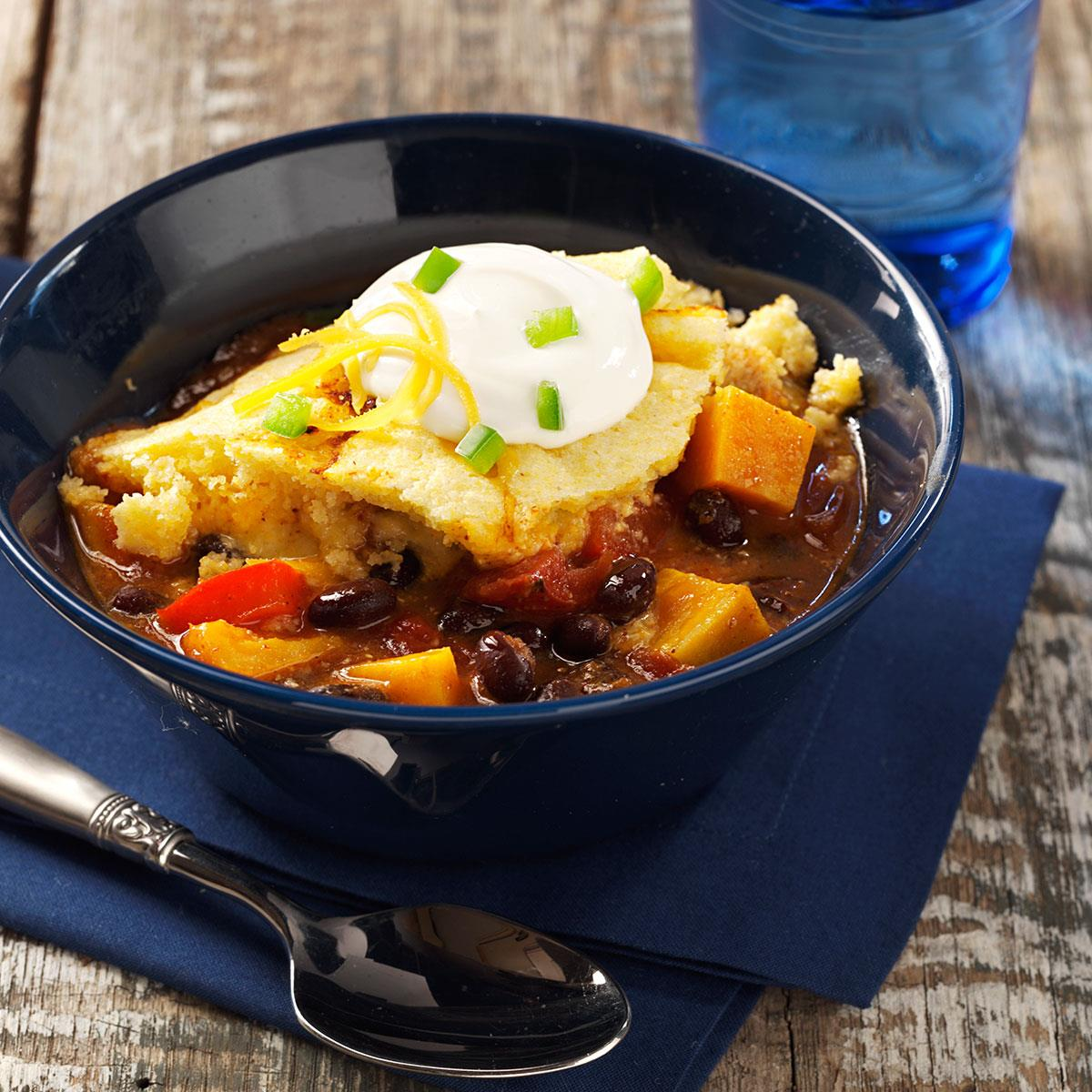 10 Healthy Ways To Cook With Potatoes: Sweet Potato Chili Bake Recipe