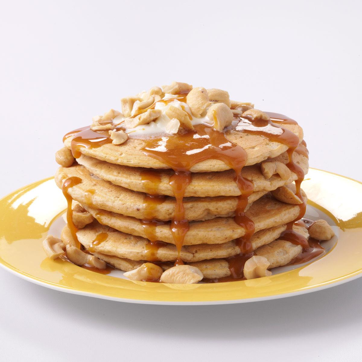 Sweet potato pancakes with caramel sauce recipe taste of home ccuart Gallery