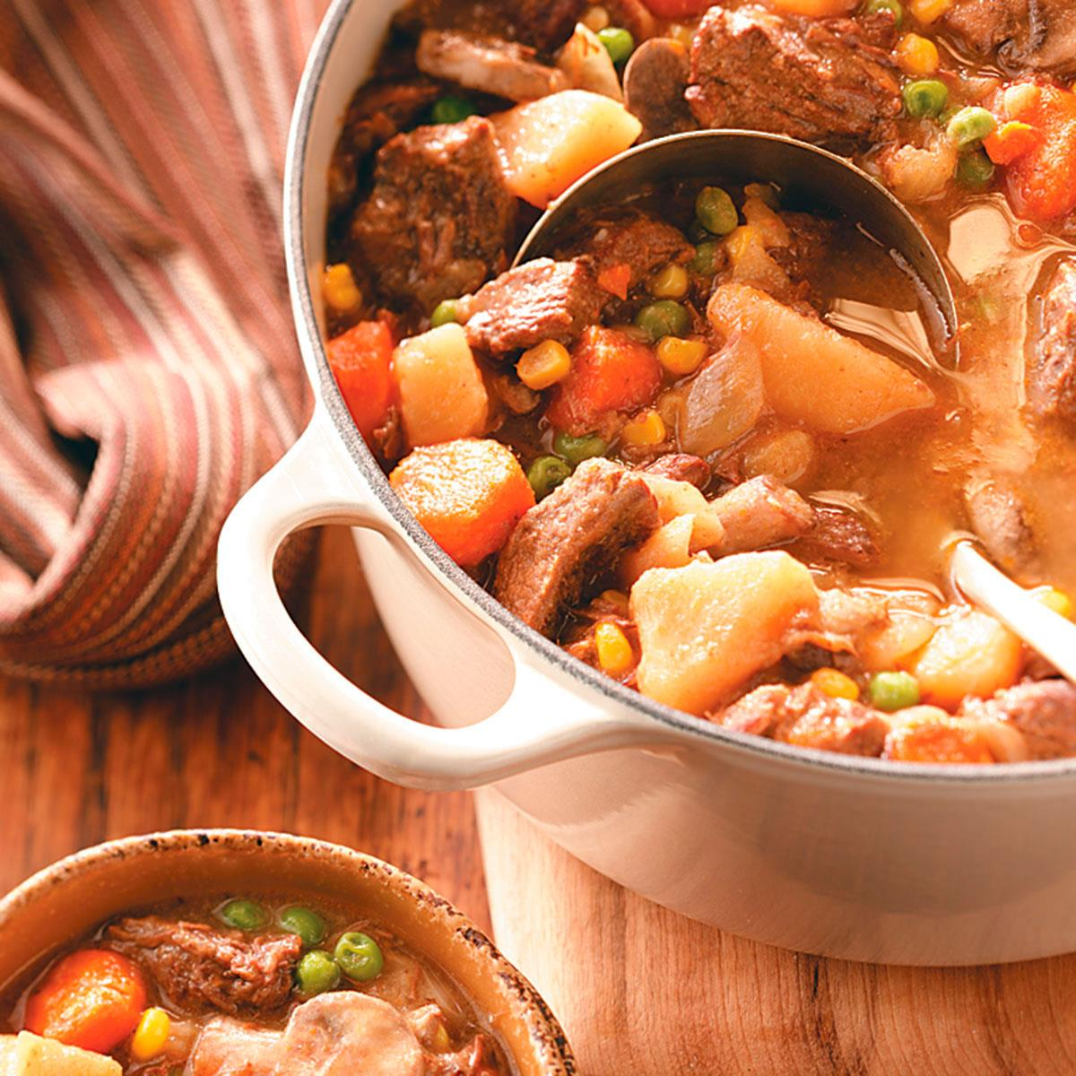 Tangy Beef and Vegetable Stew Recipe | Taste of Home