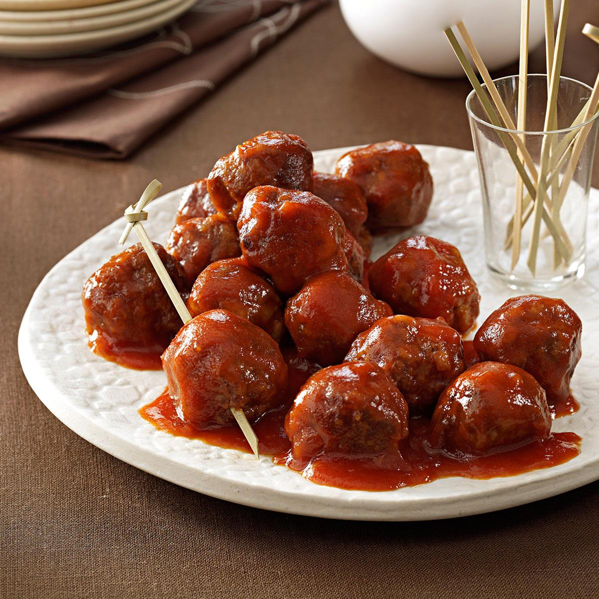 Tangy and sweet meatballs recipe taste of home forumfinder Gallery