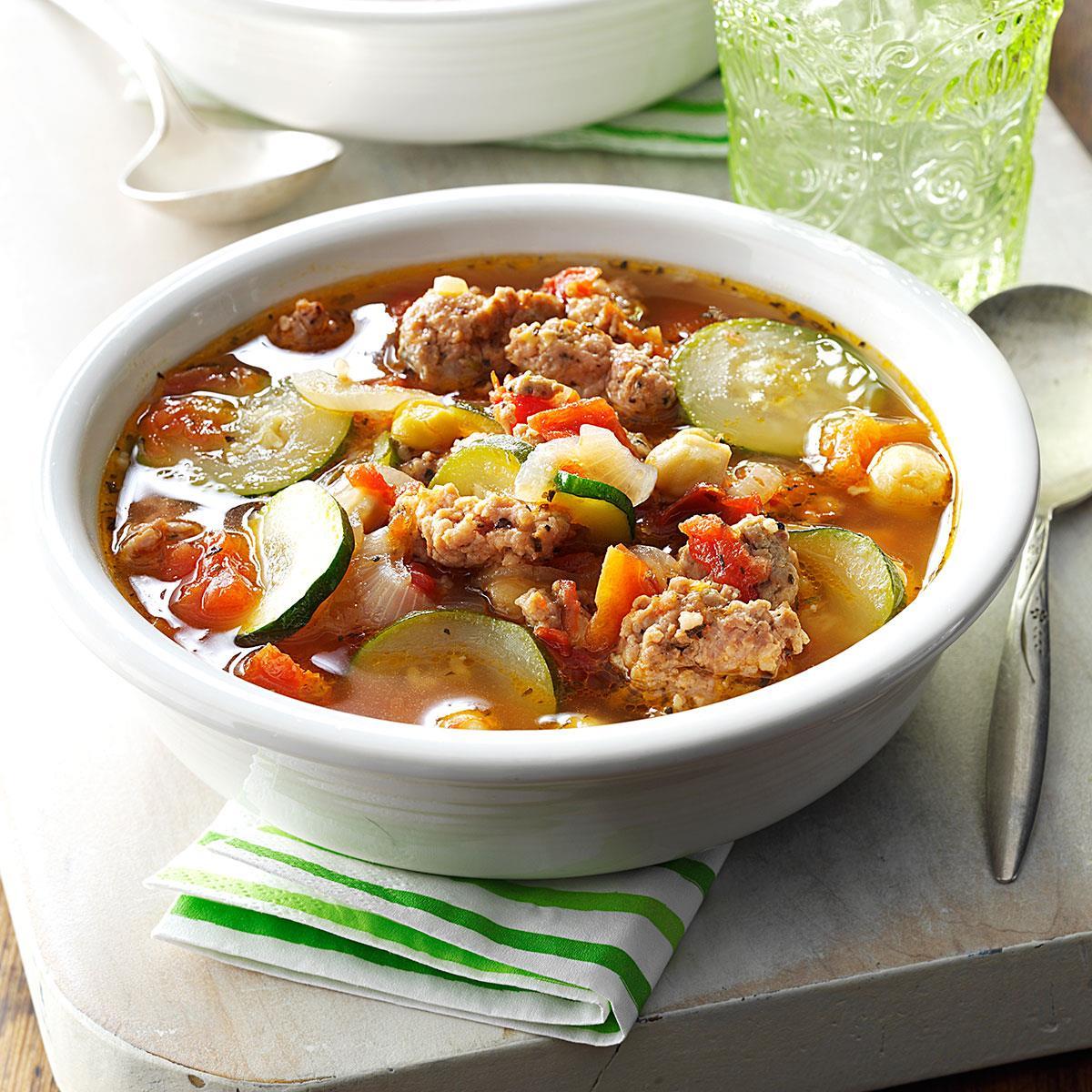 Tasty-Italian Vegetable Soup Recipe