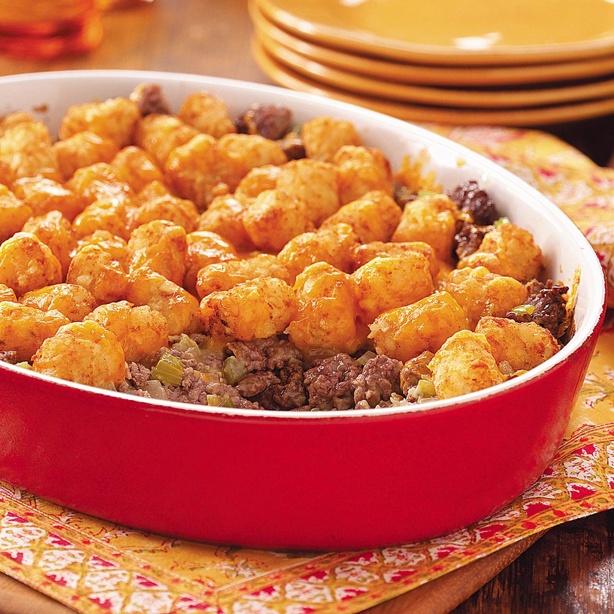 Tater Topped Casserole Recipe Taste Of Home