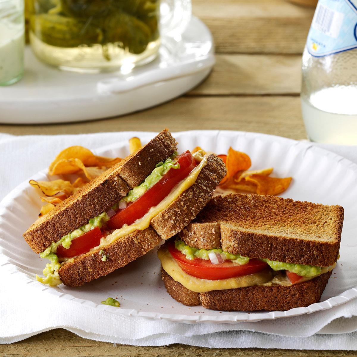 Lunch Ideas Avocado: Tomato & Avocado Sandwiches Recipe