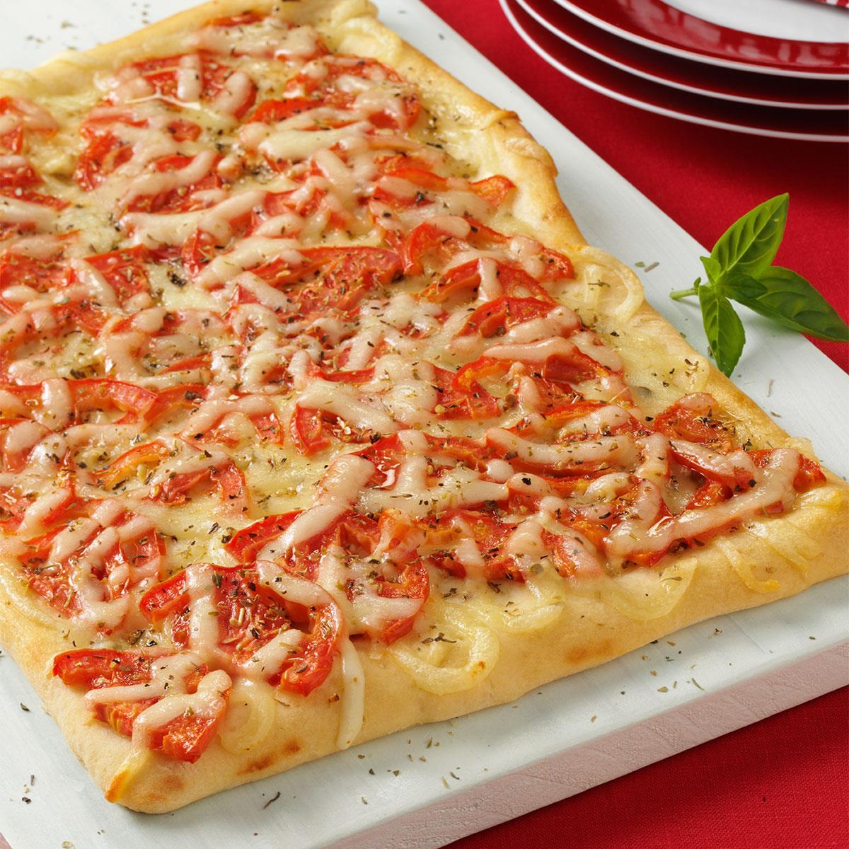 tomato pizza bread recipe taste of home. Black Bedroom Furniture Sets. Home Design Ideas
