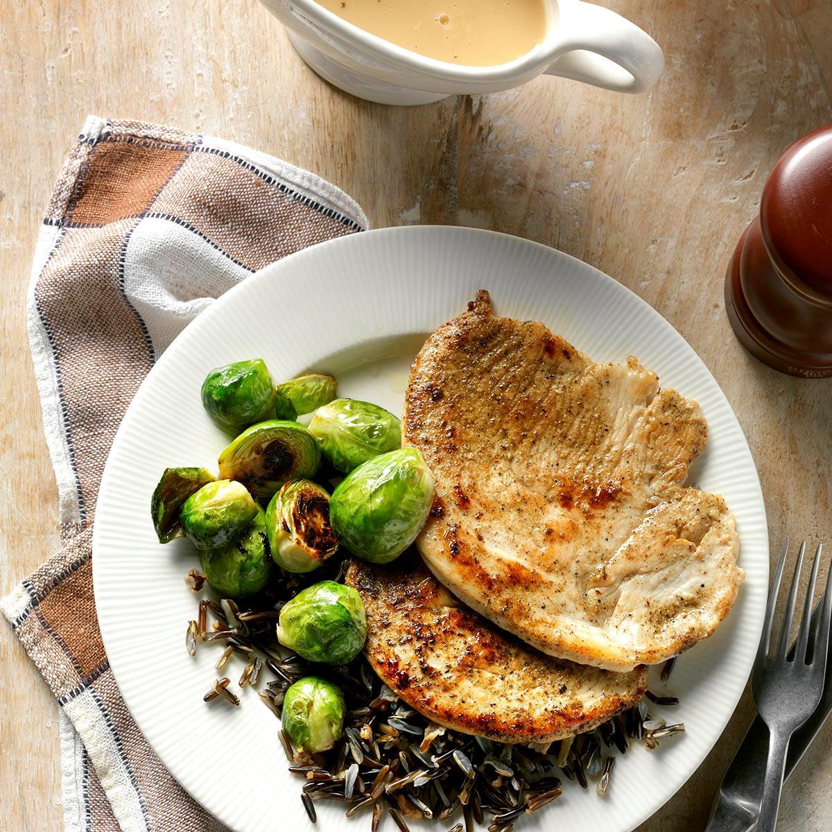 Turkey Cutlets With Pan Gravy Recipe
