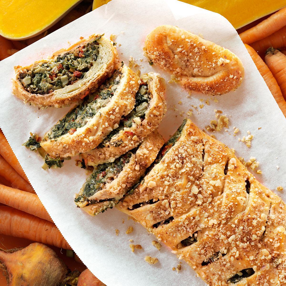 70 Saucy Creamy And Cheesy Italian Christmas Food Recipes: Tuscan Artichoke & Spinach Strudel Recipe