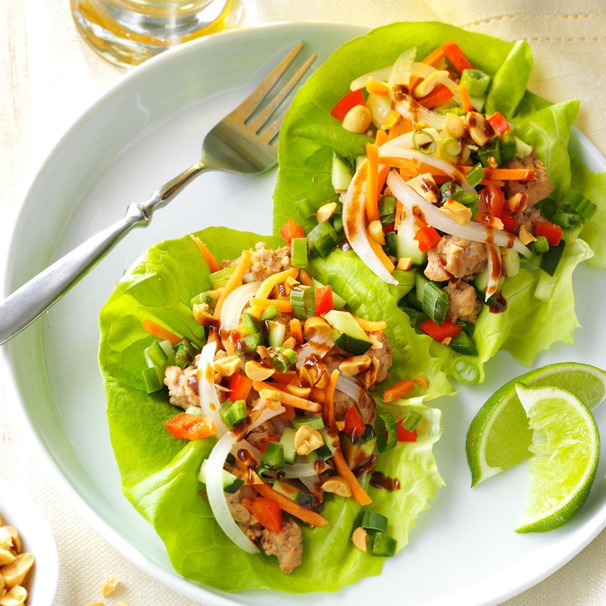 Vietnamese Pork Lettuce Wraps Recipe Taste Of Home