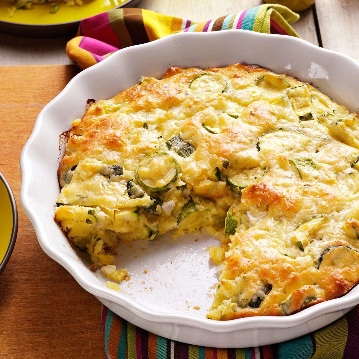Zucchini onion pie recipe taste of home forumfinder Images