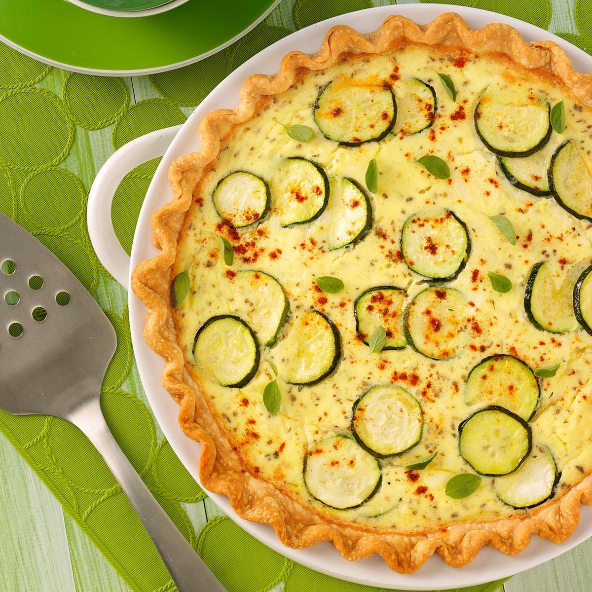 zucchini quiche recipe taste of home