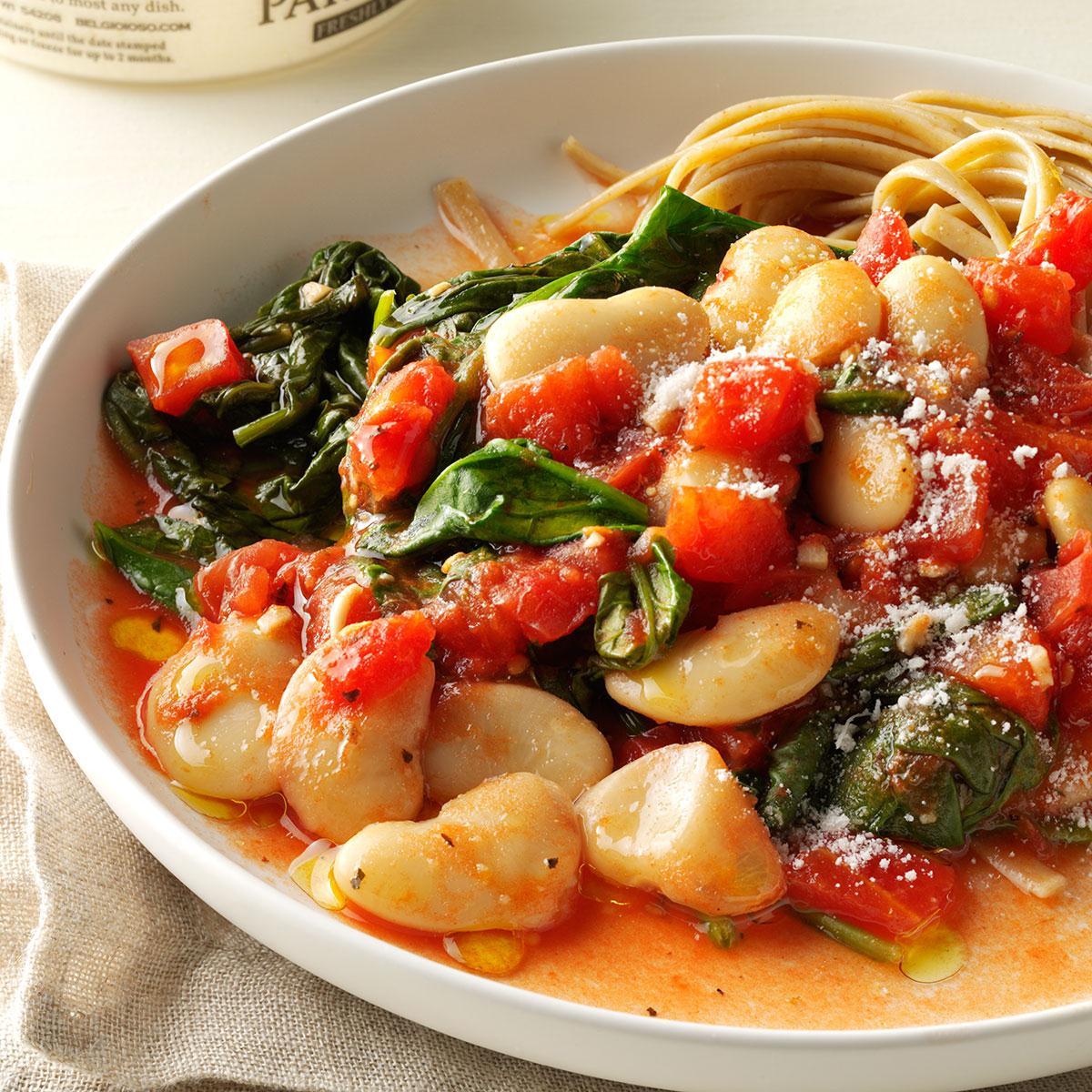Tomato & Garlic Butter Bean Dinner Recipe