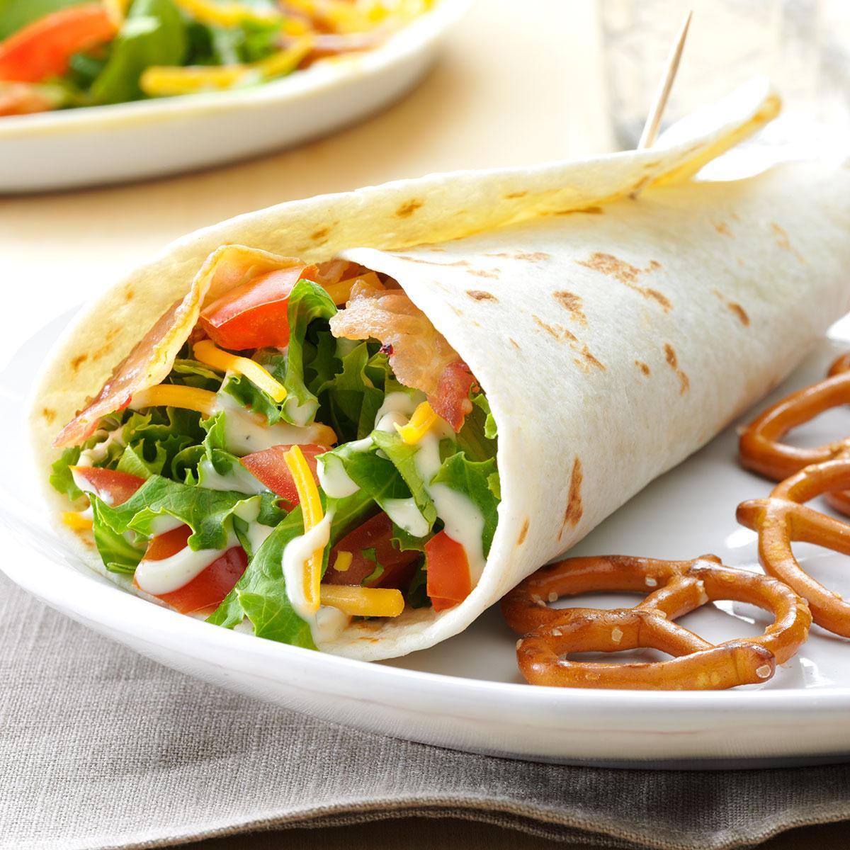Blt Wraps Recipe Taste Of Home