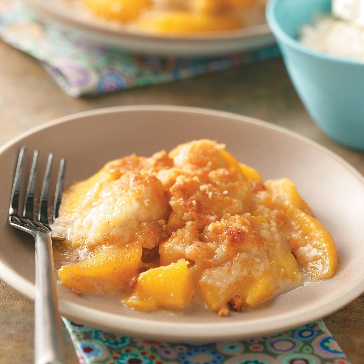 Peach Crumble Dessert Recipe