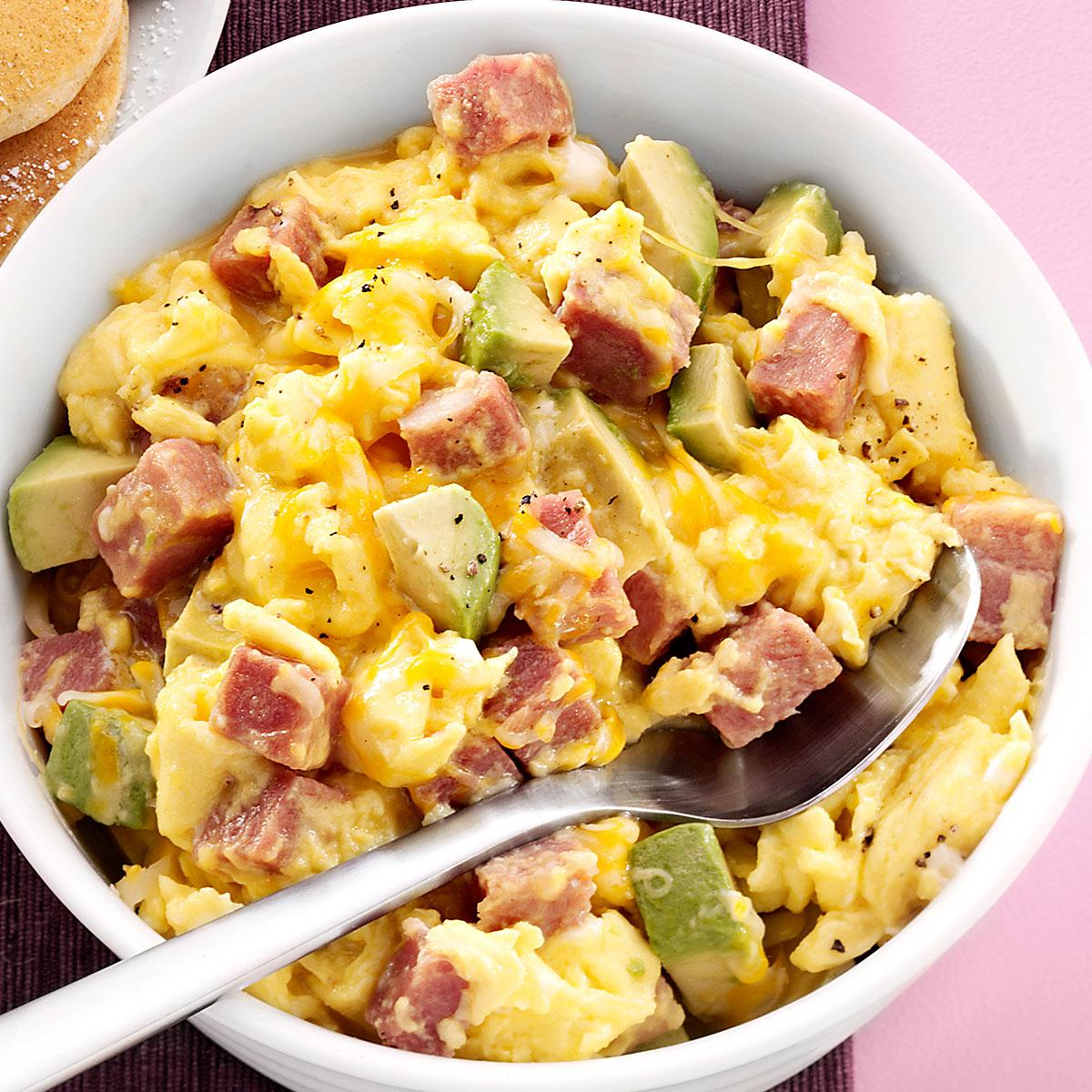 Cooking With Ham Scrambled Eggs