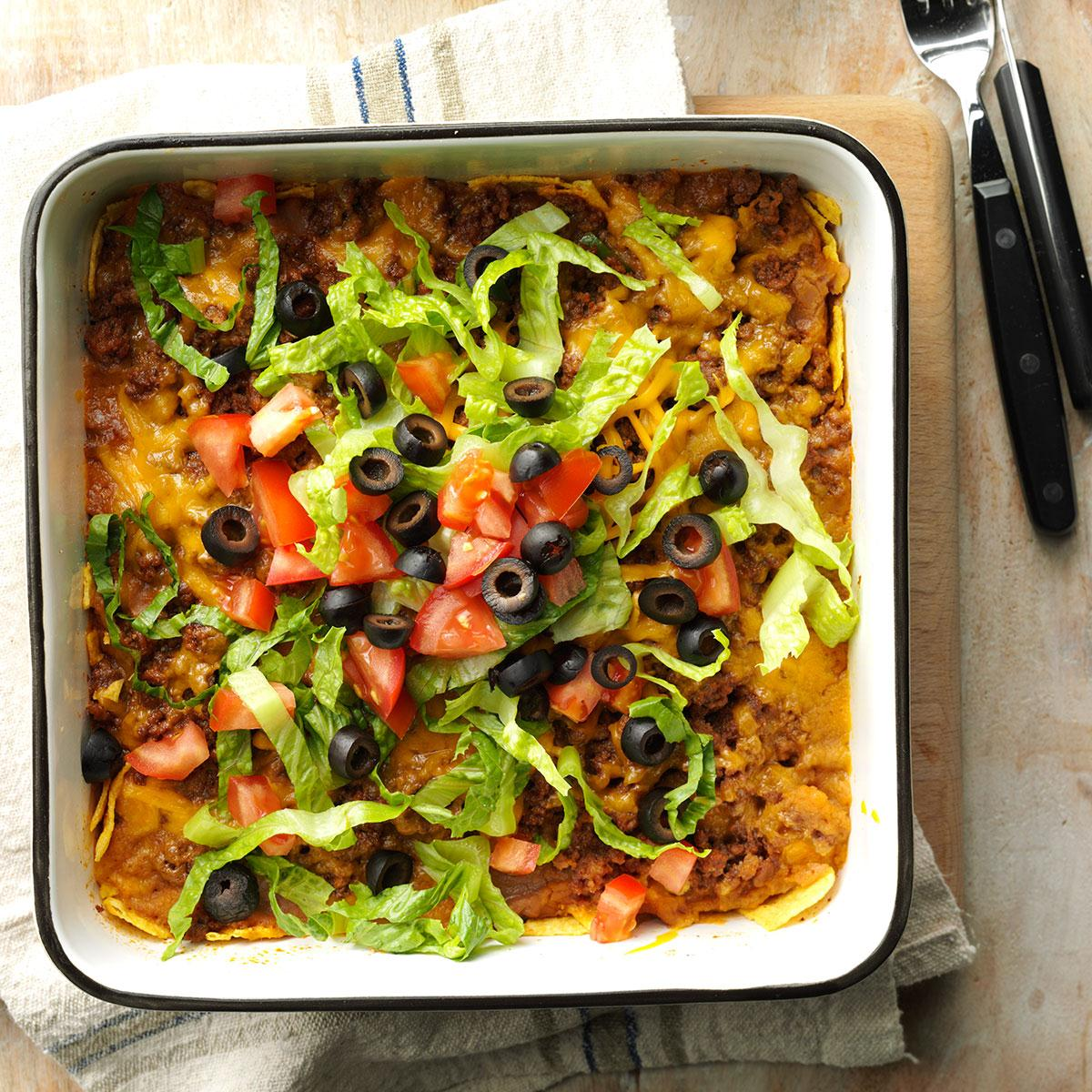 Taco Salad Casserole Recipe | Taste of Home