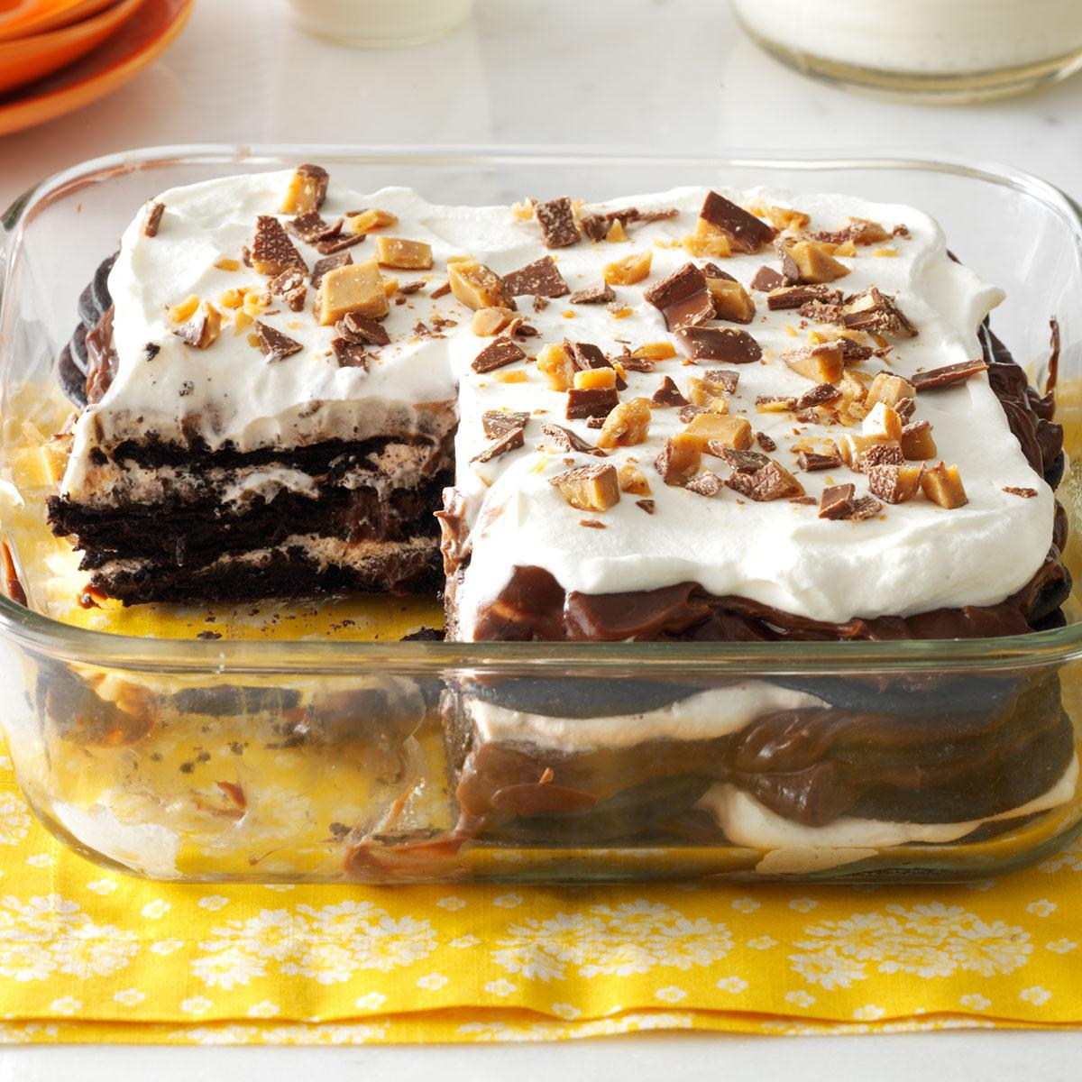 Double-Chocolate Toffee Icebox Cake Recipe