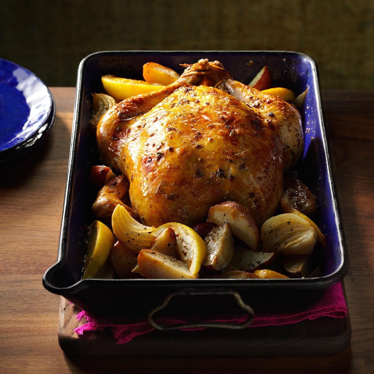 Lemon Amp Sage Roasted Chicken Recipe Taste Of Home