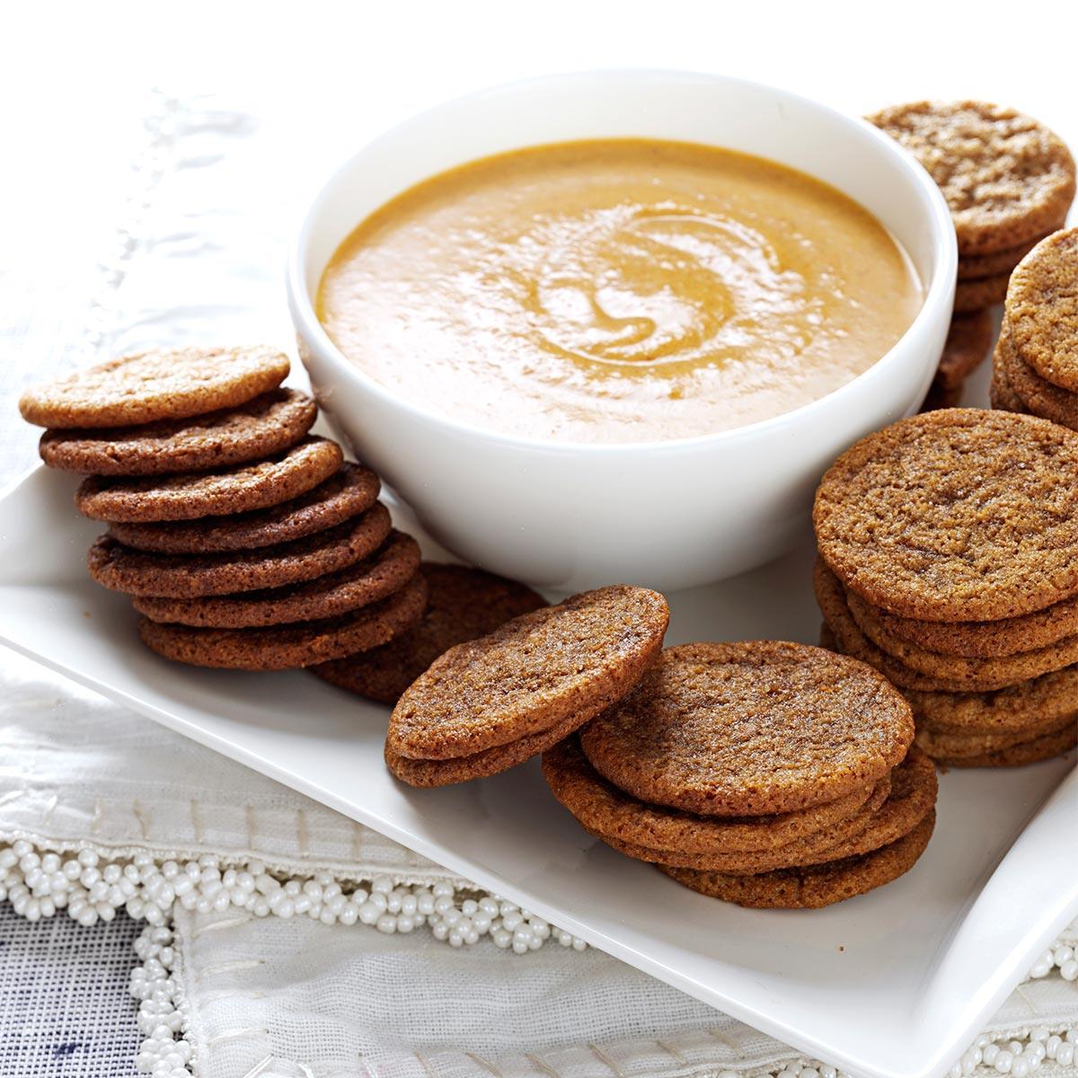 Spice Cookies With Pumpkin Dip Recipe