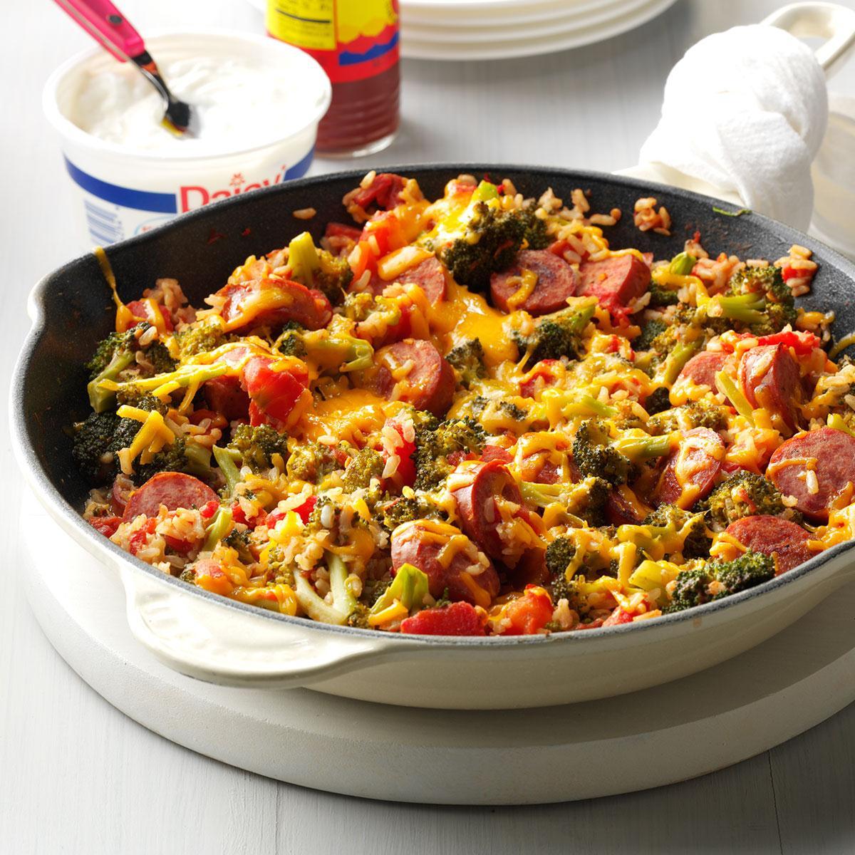 Broccoli Rice And Sausage Dinner Recipe